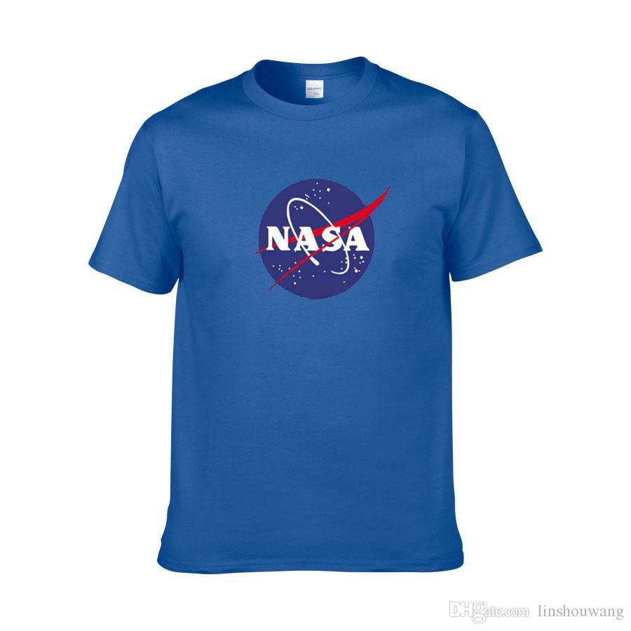 NASA-Weltraumt-shirt Retro T-Shirt Harajuku-Mann-Baumwollhemd-Art und Weisemarke Nasa-Druck-T-Shirt Männer-Kurzschluss-Hülsen-T-Shirt Sommerabnutzung
