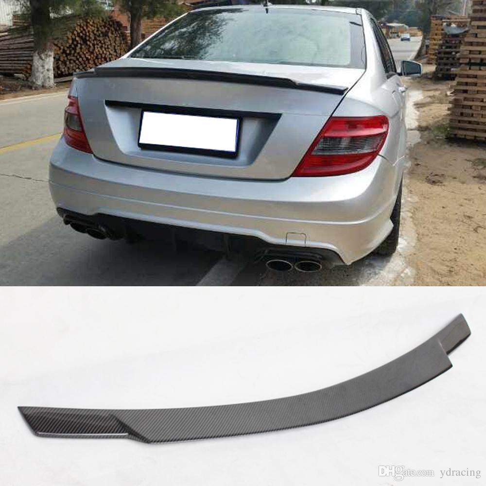 C74 Styling Carbon Fiber Car Trunk Rear Spoiler Wing Lip for Mercedes-Benz  C Class W204 C180 C200 C250 C300 C63 AMG Sedan 4-Door 2008-2014