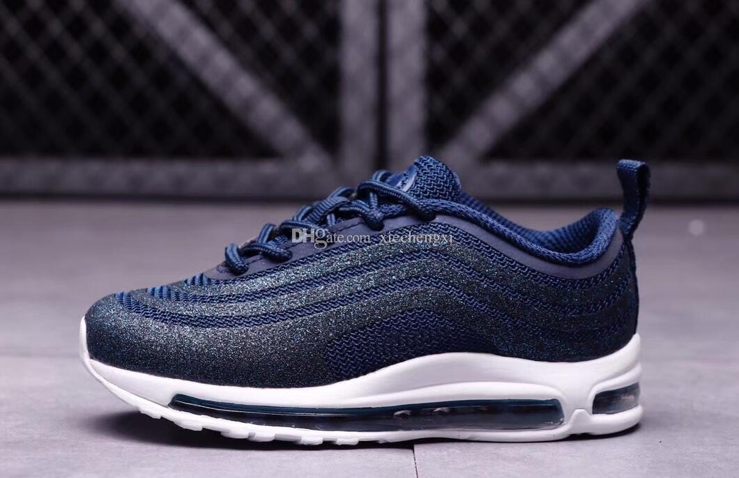 Qualité Argent De Nike Haute Sneakers Garçons Ul17 Max Bleu
