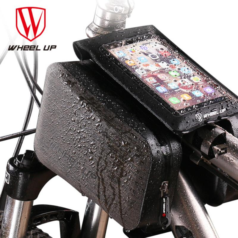designer fashion ad3d6 3cb32 WHEEL UP Universal 360 Rotataing Bike Waterproof Phone Case Quick Release  Bicycle Phone Bag TPU Touch Screen Cycling Clip