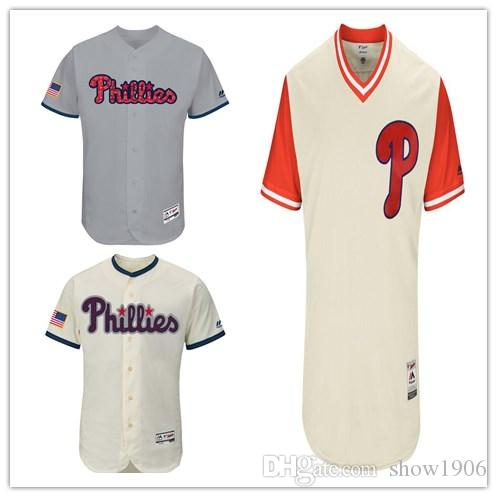 2019 2018 Custom Men S Women Youth Majestic Phillies Jersey Personalized  0  Your Name And Your Number White Grey Kids Girls Red Baseball Jerseys From  ... 3890d70ad33
