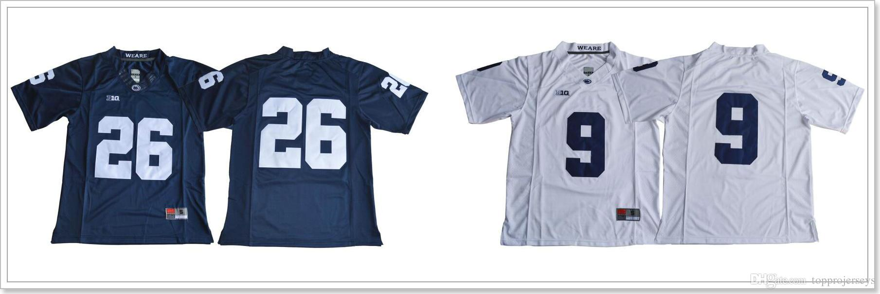 2019 Penn State Nittany Lions  9 Trace McSorley 26 Saquon Barkley Mens  College American Football Stitched Embroidery Sports Team Jerseys Shirts  From ... f16d66e13