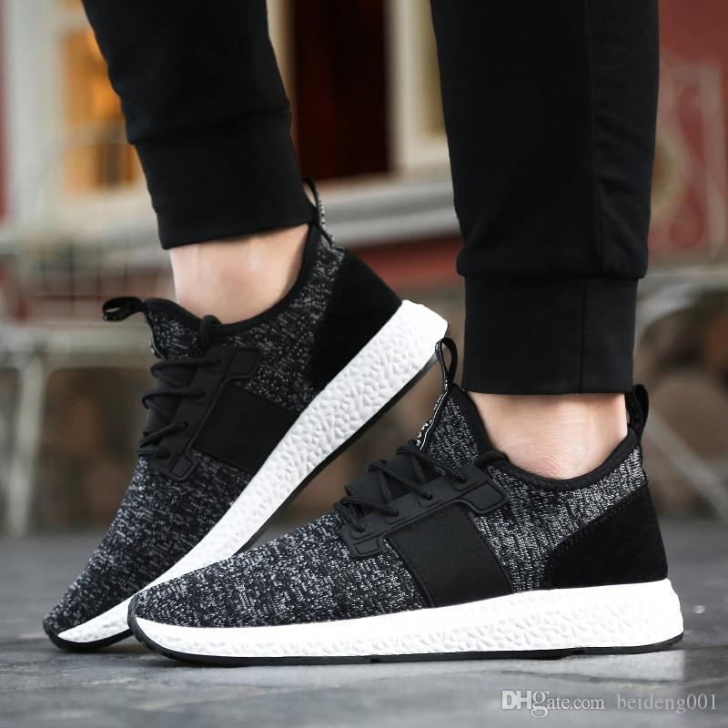 2018 Herbst neue Sportschuhe Koreanische Version der wilden Männer Schuhe atmungsaktiv Jugend Trend Board Schuhe