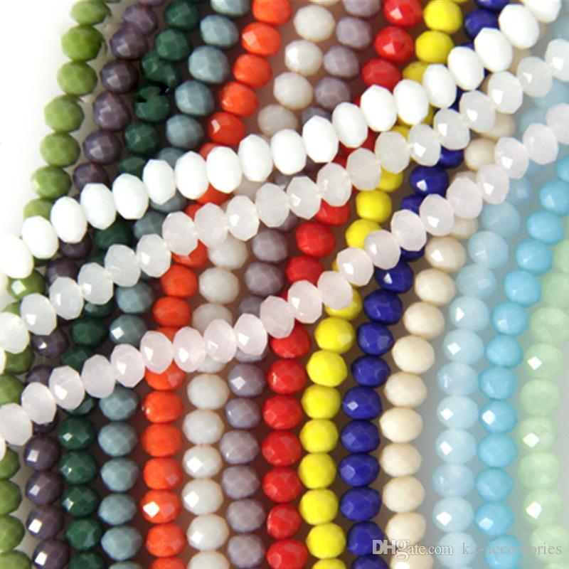 VENDUTA colorato abaco perline di vetro di cristallo sfaccettato perline gelatina Spacer solidi 6 millimetri Gioielli fai da te