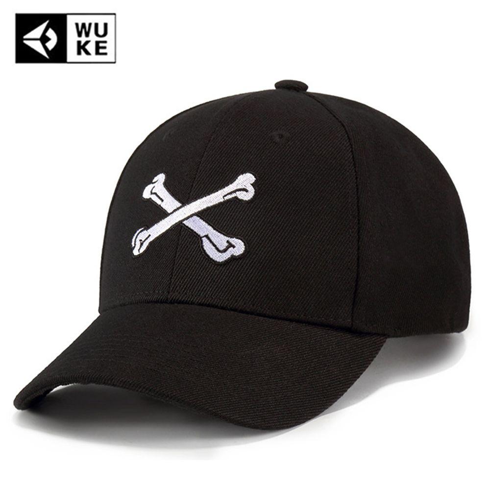 WUKE Brand Black Casual Baseball Caps For Men Women Embroidered Summer Dad  Hat Hip Hop Skull Snapback Caps Bone Gorras Casquette Hat Beanies From ... b4628e5fbc8