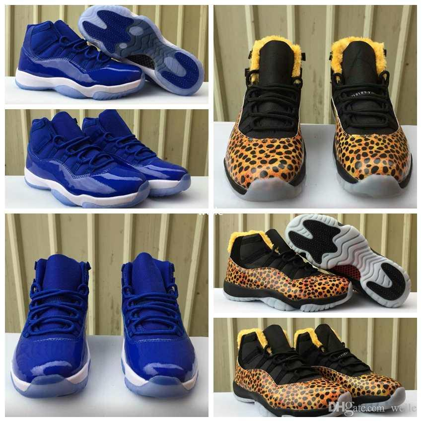 2019 2018 New 11 Mens Women Basketball Shoes 11s Royal Blue Leopard Pattern Men  Woman Athletic Sports Trainers Sneakers Size 5.5 13 From Weile bec5d633c
