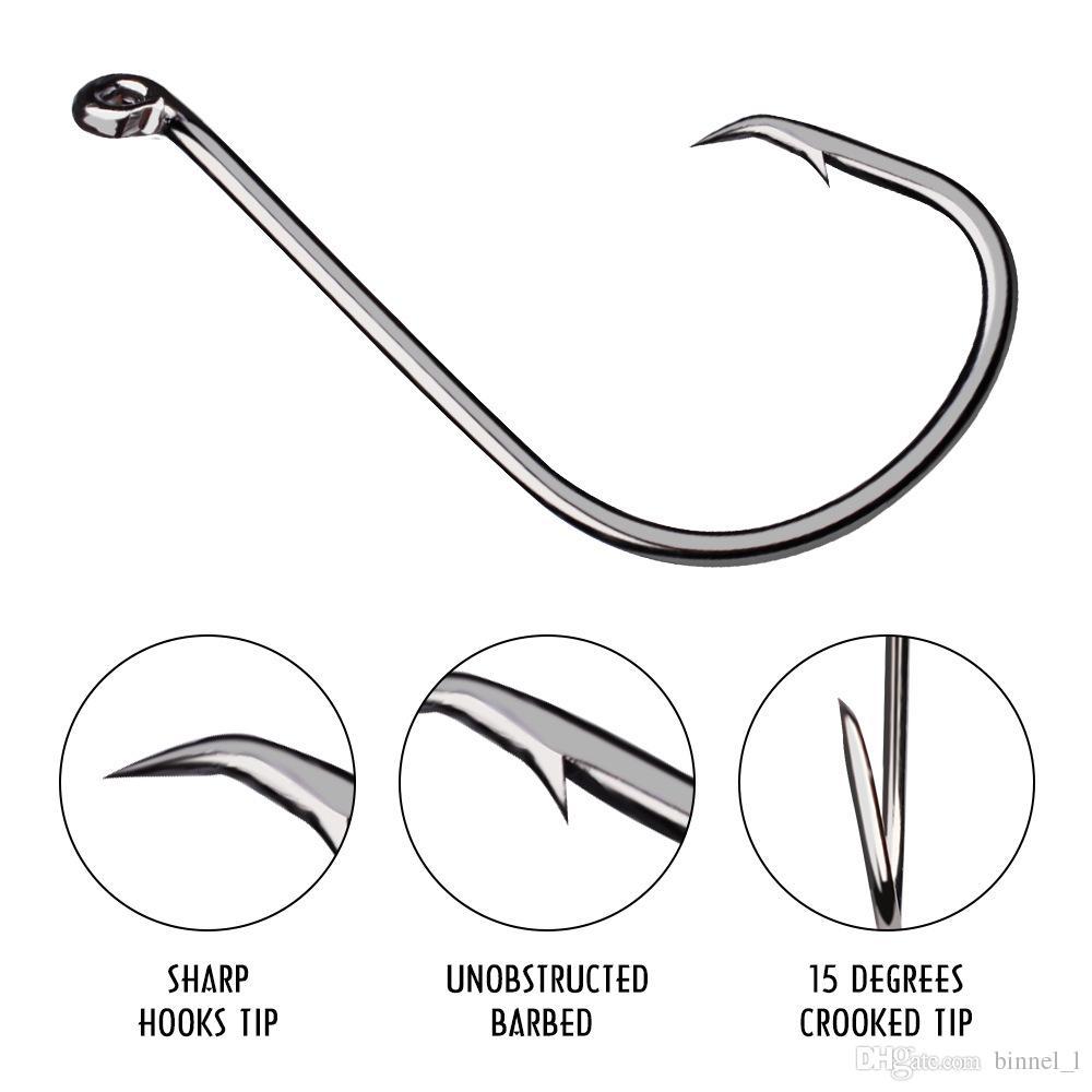 / серия 1/0 # -8 / 0 # SZ-7384 Crank Hook высокоуглеродистой стали рыболовные крючки Крючки Песка рыболовные снасти Аксессуары BL_50