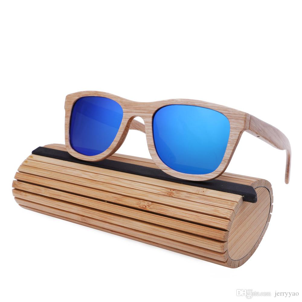 نظارات شمسية من الخيزران للرجال مصنوع من المعدن