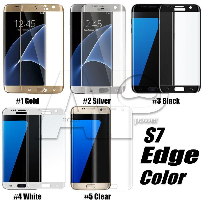 Pour Iphone 11 Pro Max Samsung S10 S9 Remarque 10 Plus Galaxy Note 20 Pro en verre trempé Plein écran couleur Protecteur courbe 3D