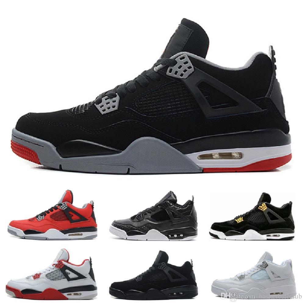 7b66c8149053 Aaa+ 4 4s Men Basketball Shoes Pure Money Premium Black Cat White Cement  Bred Fire Red Fear Alternate Sports Shoes Sneakers Size 41 47 Shoes Online  Walking ...