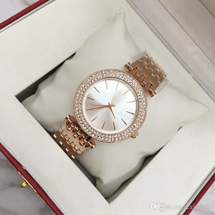 Wholesales ultra mince horloge rose or femme de diamant fleur montres 2018 marque de luxe infirmière dames dames robes féminines cadeaux de montre-bracelet pour fille9