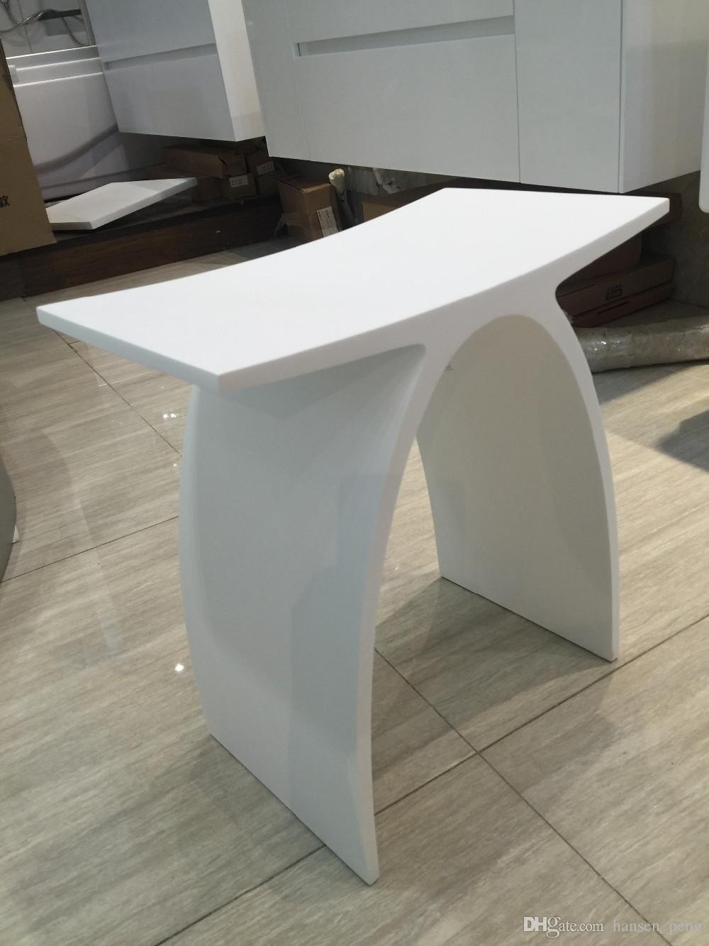 Großhandel New Matte Moderne Gebogene Design Badezimmer Sitz Dusche Hocker  Matt White Acryl Solid Surface Sauna Stühle 8 Von Hansen_peng, 8,8 €