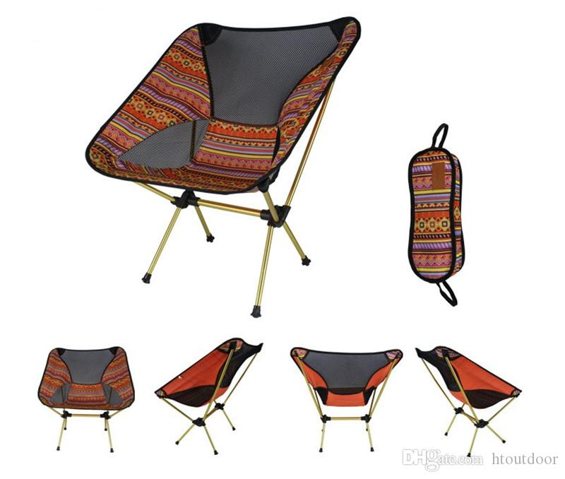 Lightweight Breathable Backrest Aluminum Outdoor Folding Chair Portable Beach Sunbath Garden Picnic Barbecue Camping Fishing Chair