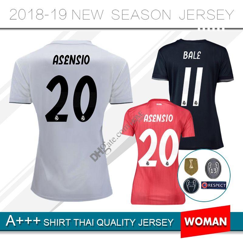 44bcfae7b8f 2019 WOMEN 2018 2019 Real Madrid Soccer Jerseys Modric MODRIC Marcelo Third  Jerseys 18 19 Season ASENSIO ISCO RAMOS Home Football Uniform From  Homejersey