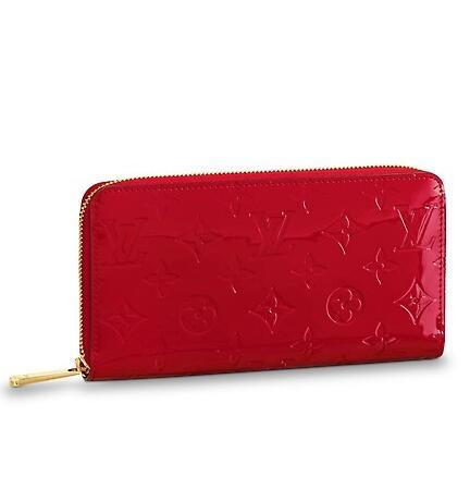 brand new cfcd6 4c96c 2019 M90417 RED Patent leather ZIPPY WALLET Real Caviar Lambskin Chain Flap  Bag LONG CHAIN WALLETS KEY CARD HOLDERS PURSE CLUTCHES EVENING