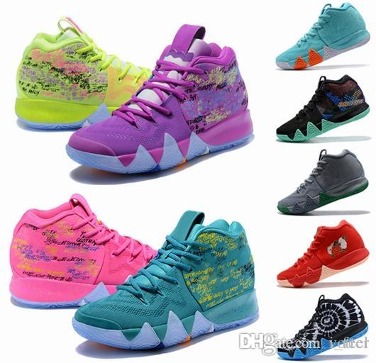info for abeab b62cf 2018 New Kyrie IV Shoes Power is Female Irving 4 Men Basketball Shoes 4s  Brand Athletic Shoe Sports Mens Trainers Sneakers Size 40-46