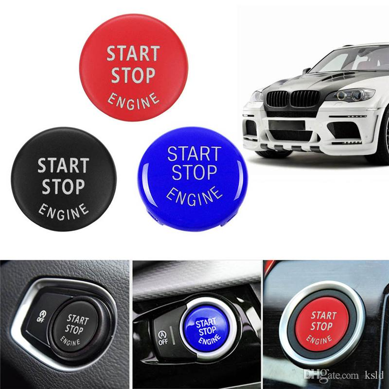 Car Engine START Button Replace Cover STOP Switch Accessories Key Decor for  BMW X1 X5 E70 X6 E71 Z4 E89 3 5