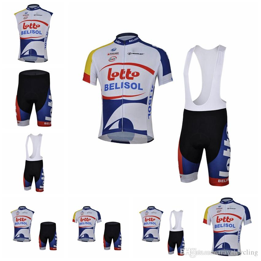 2018 TEAM LOTTO Soudal Cycling Jersey Gel Pad Bike Shorts Suit Ropa  Ciclismo Mens Summer Quick Dry PRO BICYCLING Maillot Culotte 91819Y Vintage  Cycling ... 63cb39854