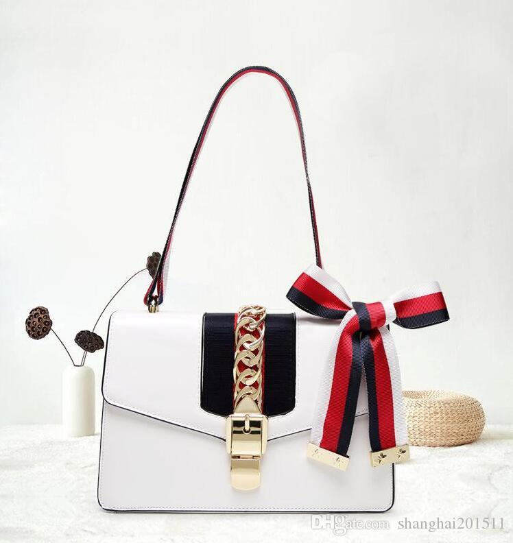 6e5804617471 2018 New High Quality Fashion Women Handbags Bow Decorate Shoulder Chain Bags  Tote PU Leather Handbags College Style Party Bag DhY 317 Clutch Purse  Handbags ...