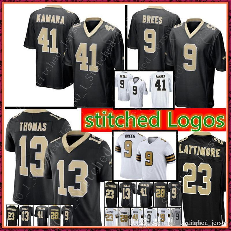 08f928129 2018 New Orleans  9 Drew Brees 41 Alvin Kamara Saints Jersey Men S 23  Marshon Lattimore 13 Michael Thomas 28 Peterson Limited Jerseys From ...