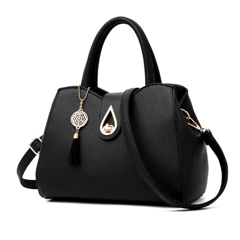 Damentaschen Neue Mode Pu Frauen Schulter Taschen Weibliche Schwarze Umhängetasche Hohe Qualität Weiche Damen Crossbody-tasche Zarte Kleine Hangbags Schultertaschen