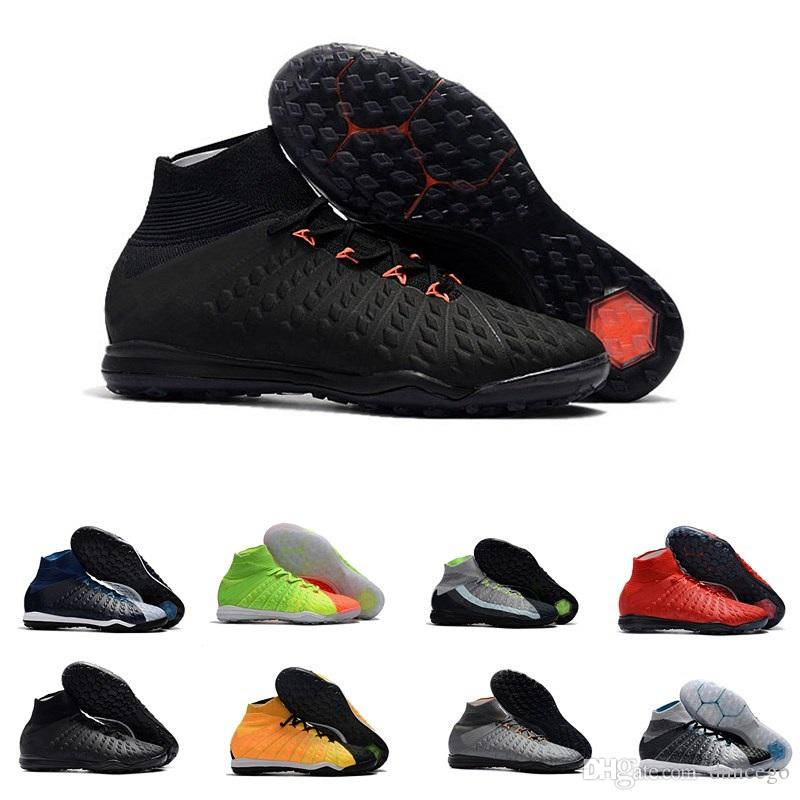 separation shoes f9a88 c07b2 hot sale aaa quality soccer shoes for men Hypervenom X Proximo II DF TF  black/orange black/silver mens indoor football cleats size39-45