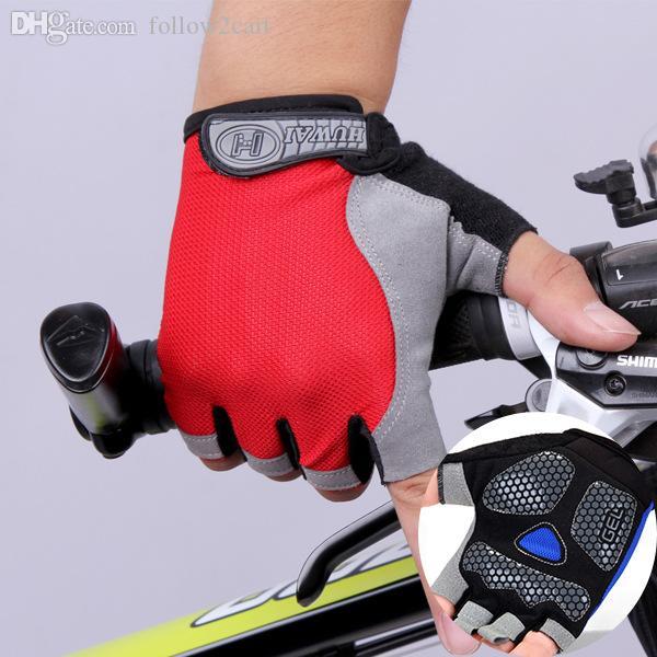 Yaz Yarı Parmaklı Ince Örgü Nefes Eldiven Erkek Kadın Açık Yürüyüş Spor Anti-Skid Güneş Geçirmez Spor Yarım Parmak Eldiven