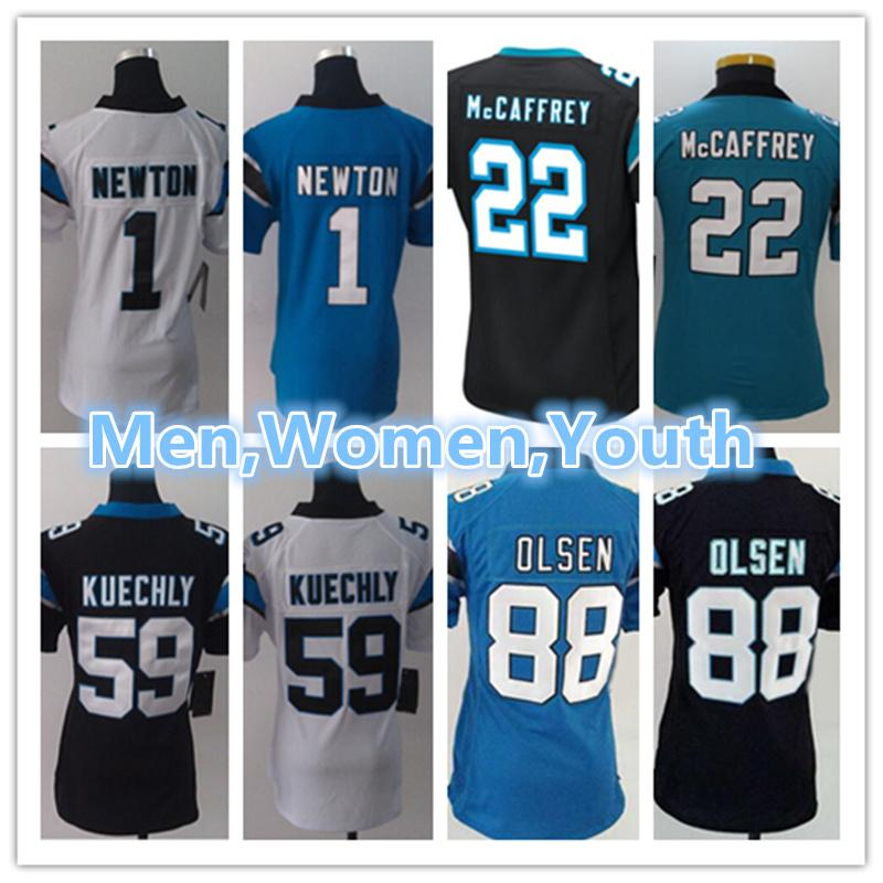 finest selection f3a62 1f4bd Men Women Youth Carolina Panthers jersey 1 Cam Newton 59 Luke Kuechly 88  Greg Olsen 22 Christian McCaffrey Football Jerseys
