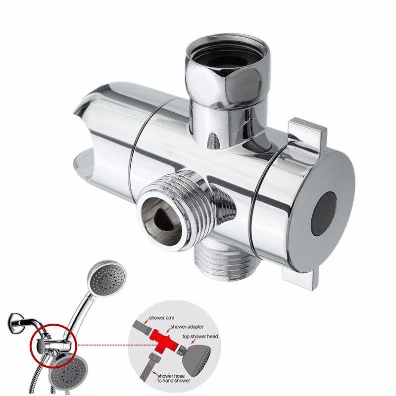 2018 Multifunction 3 Way Shower Head Holder Water Saving Diverter ...