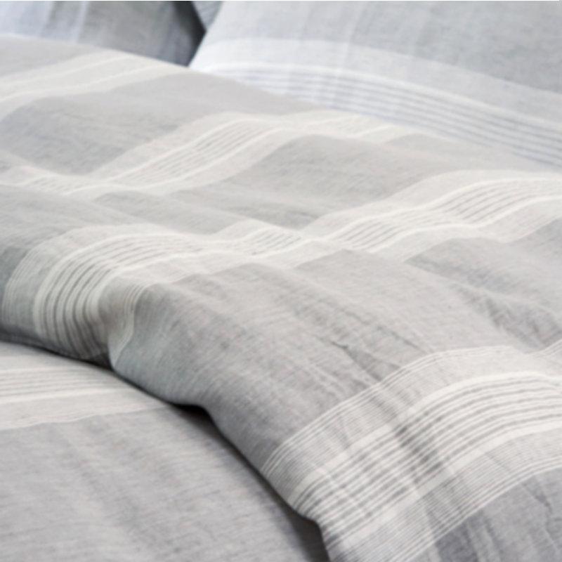 Elegant Yarn Dyed Strip 100% Pure Linen Bedding Sets Waterwash Linen Pillowcase  Duvet Cover Sheets Full Bedding Sets Bedding Comforter Sets From Herbertw,  ...