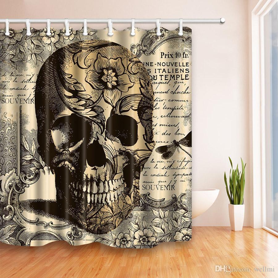 2019 Fashion Punk Style Bathroom Shower Curtain Eco Friendly Polyester Creative Hooks Waterproof 180CM180CM From Wellmi