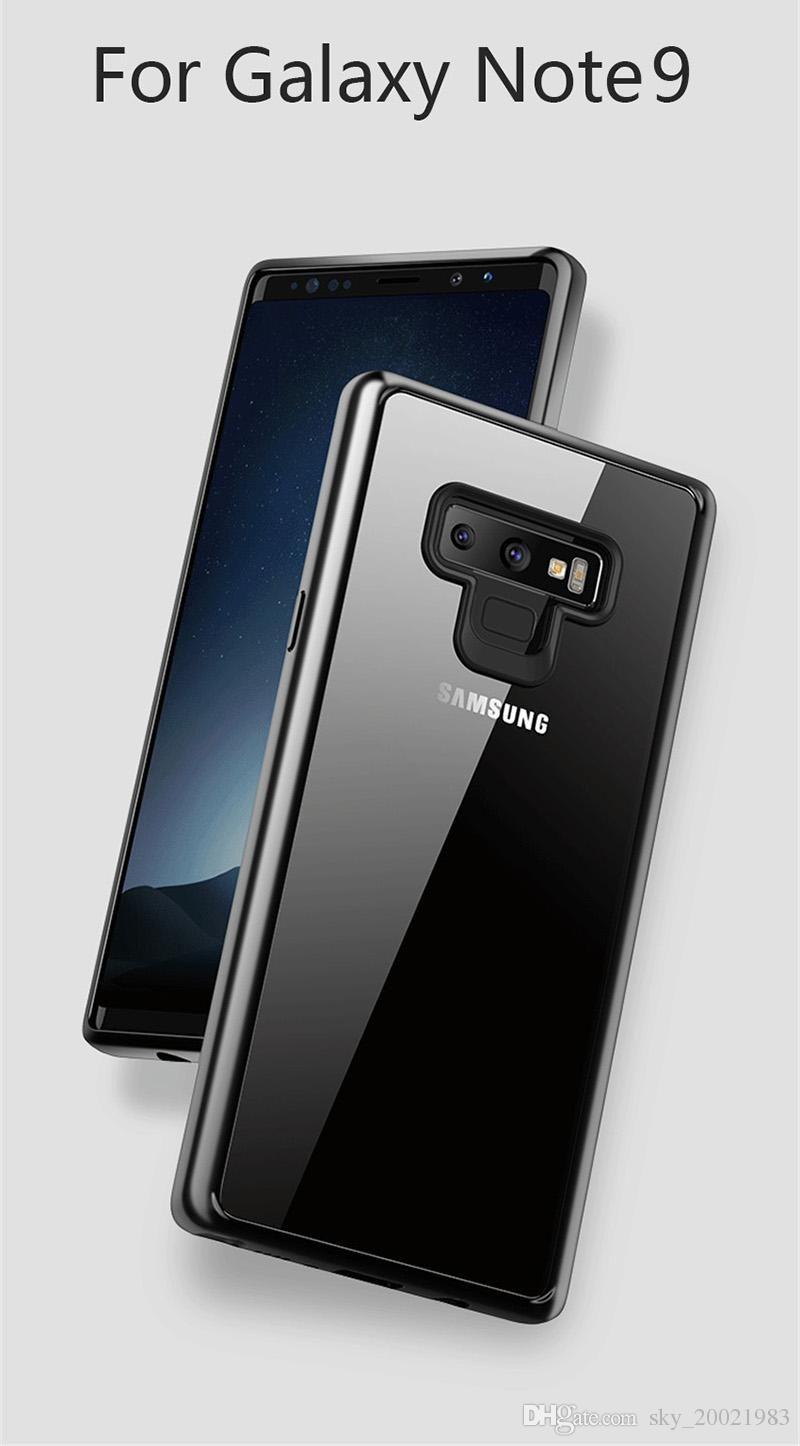 the best attitude e620b c6c5c For Samsung Galaxy Note 9 Note9 Case Soft TPU Transparent PC Back Cover For  Galaxy Note9 Thin Clear Bag For Samsung Note 9 Case