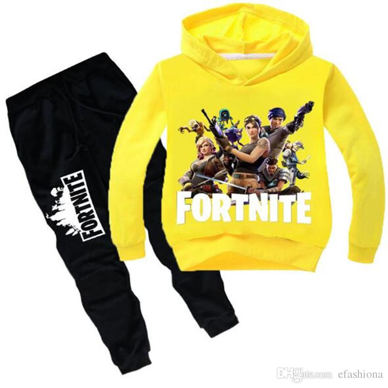 677fc452e9c4 2019 Luxury Kids Fortnite Tracksuit Big Boys Long Sleeve Designer ...