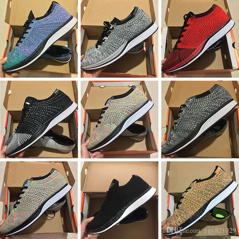 new styles 45e39 fd81b Acheter FK Zoom Mariah Fly Racer 2 Femmes Hommes Athletic Tout Noir Rouge  Vert Chaussures Tissage Racer Sneaker Basket Taille 36 45 De  69.04 Du  Zgy821029 ...