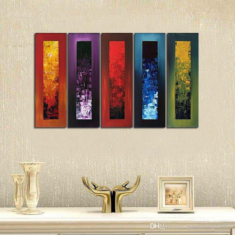 Hand Painted Modern Abstract Oil Painting on Canvas Large Size Paintings Knife Wall Art Pictures For Living Room