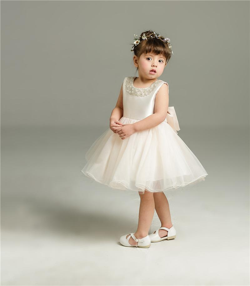 ad44ff198df4 2019 2018 Lace Baby Girl Flower Wedding Party Pageant Dress Infant ...