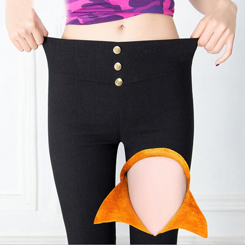 Acheter 2017 Épaissir En Laine Chaud Femmes Pant Leggings Bureau Lades Ol Pantalon  Mince Crayon Pantalon Taille Haute Pantalon D hiver Femme Pantalon De ... b3bbf9cc803