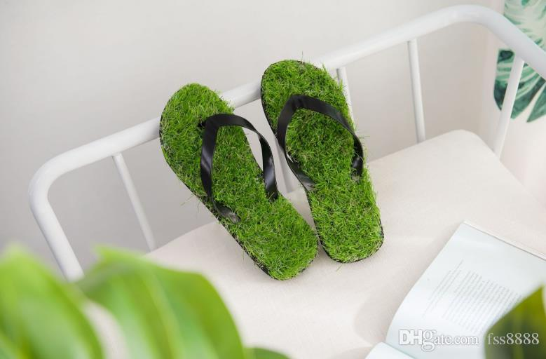 6f2311543 The New Creative Simulation Lawn Character Flip Flops Personalized Slippers  Couple Models Free Postage Bearpaw Boots Silver Shoes From Fss8888