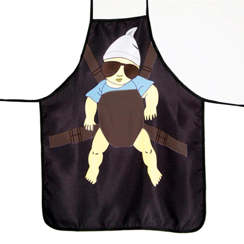 LUOEM Novelty Super Daddy Printed Kitchen Apron Funny Cooking Grilling BBQ  Apron Brithday Christmas Gifts