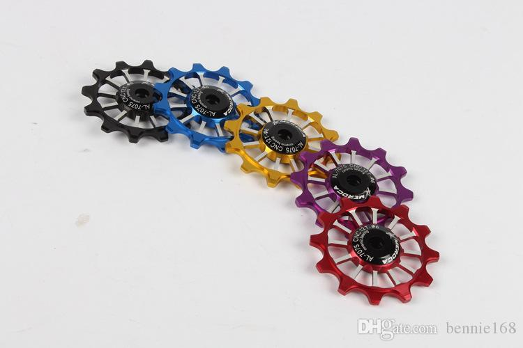 5 colours Narrow Wide Ceramic Bearing Derailleur Pulley 12T Rear Derailleur Aluminum Jockey Wheel with Fit for Road Bike MTB BMX