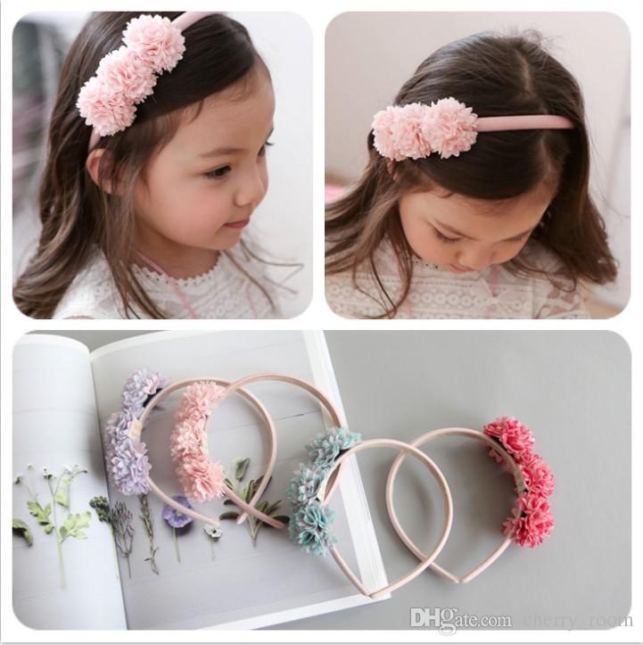 Korean Flower Baby Girl Headbands Sweet Floral Children Hair Accessories  2018 New Kids Hair Bows Fashion Girls Headbands C3368 Yellow Hair  Accessories ... 17e450b4b216