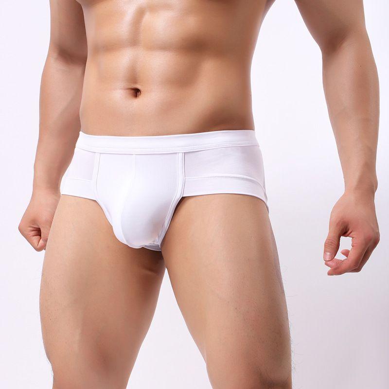 ff72e1c44e9 Men s triangular panties Enlarging underpants Sexy Men Underwear Briefs U  convex big penis pouch big plus size for L XL XXL XXXL