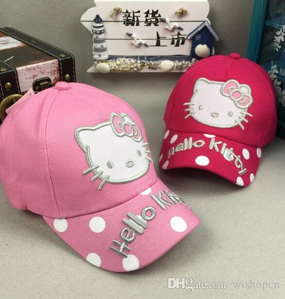 4ff3e2df6 Hello Kitty Mix Boy Girl Fashion Sun Hat Cloth Cap Casual Cosplay Baseball  Cap Gifts Q 15 Caps Hats Fitted Cap From Wishopcn, $3.97| DHgate.Com