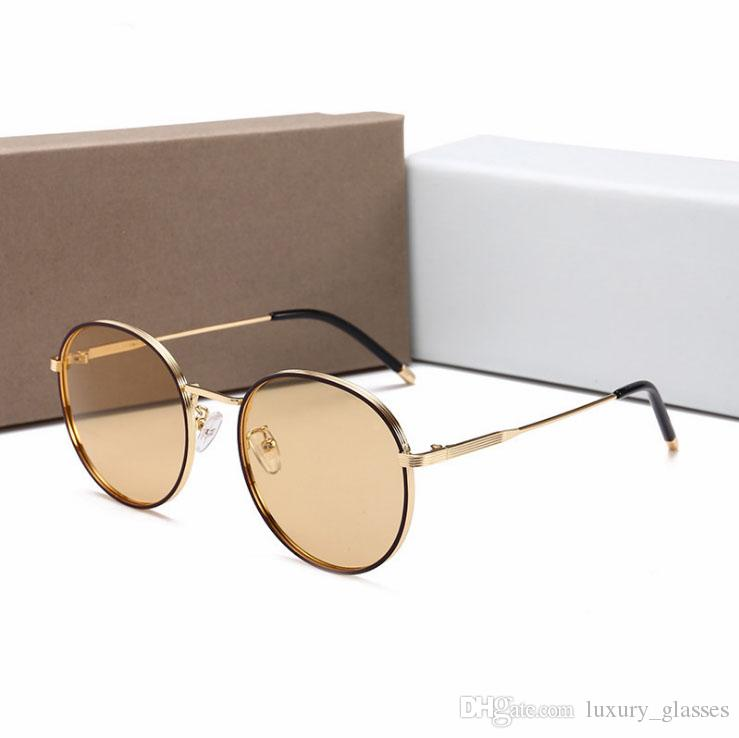 3820446fc0 2018 Sunglasses Luxury Women Brand Designer Fashion Round Summer Style  Mixed Color Frame Sun Glasses Top Quality UV Protection Lens Eyewear  Sunglasses Shop ...