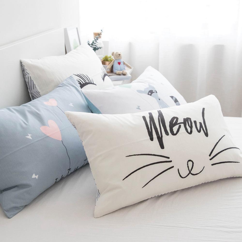 Bettwäschegarnituren 1pc Solid Color Bed Pillowcases Standard Pillow Case Pillow Cover Bedding Bettwaren, -wäsche & Matratzen