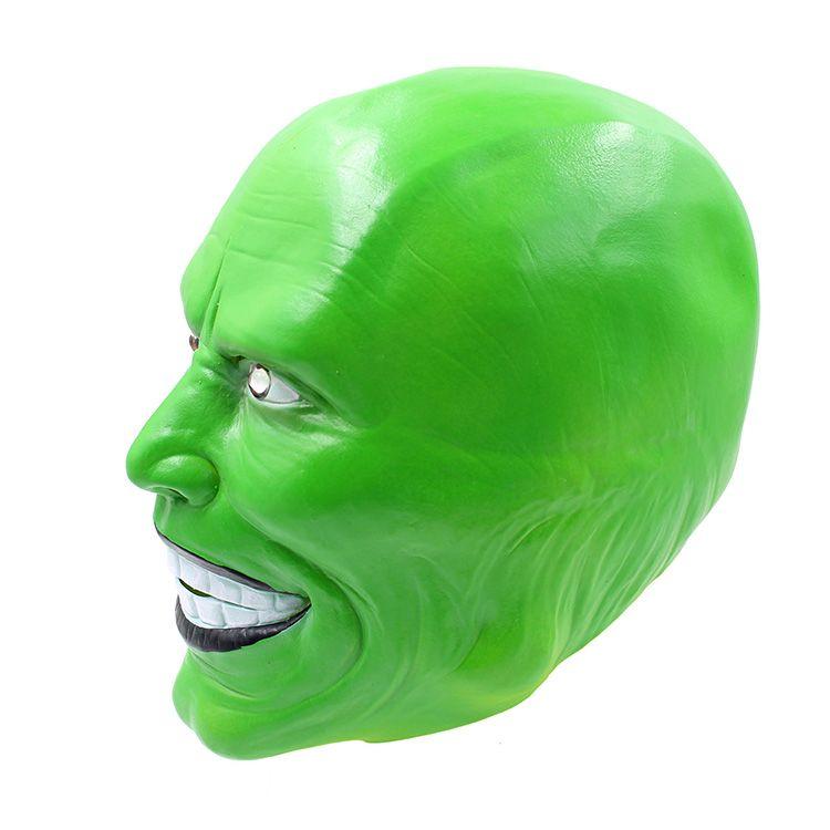 Scary Mask Jim Carrey Máscaras de Halloween Adult Látex Máscara Película Cosplay Toy Props Party Fancy Dress
