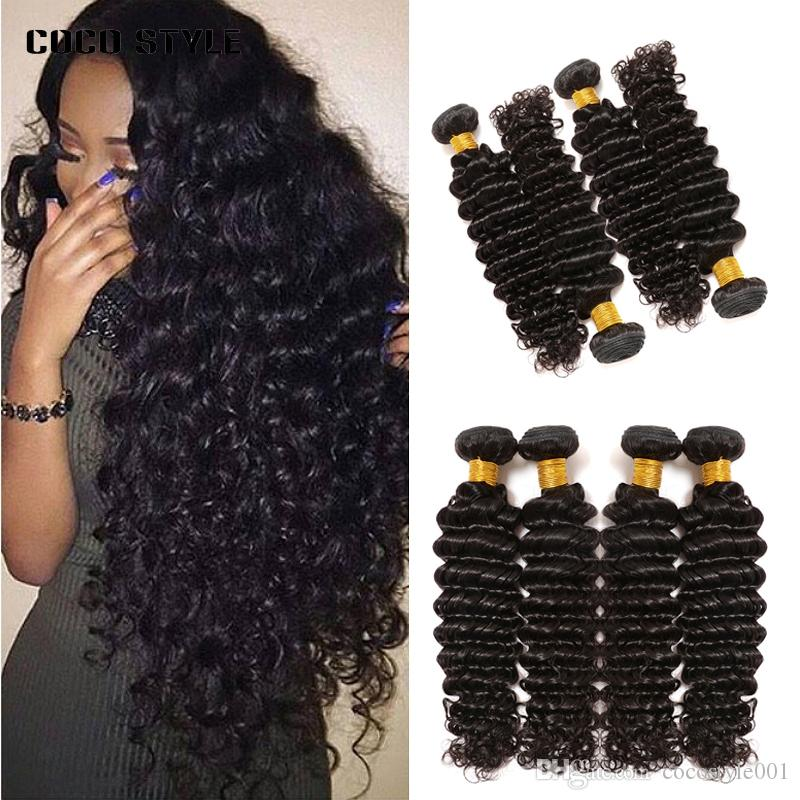 3/4 Bundles With Closure Just Wome #27 Mongolian Deep Wave Hair 3 Bundles Honey Blonde Color Human Hair With Closure Non Remy Curly Hair Extensions Hair Extensions & Wigs