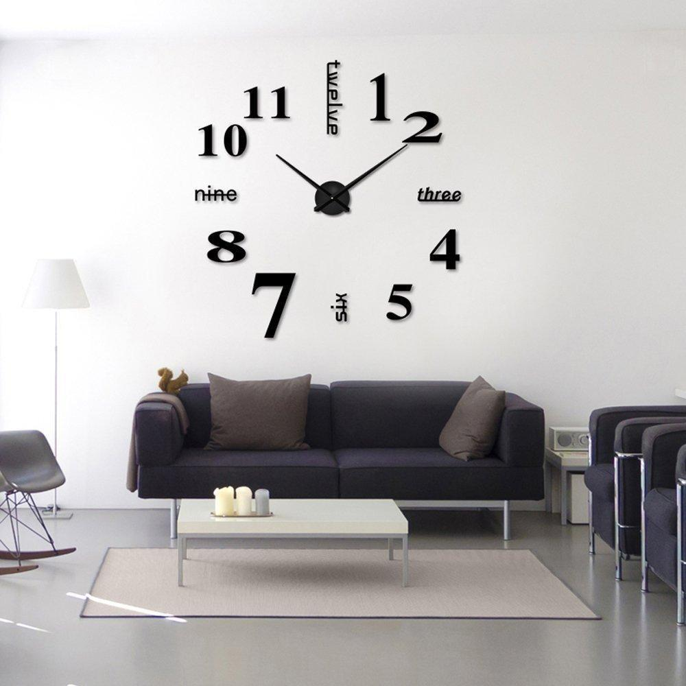 Living Room Bedroom Wall Stickers Clock Diy Personalized Home ...