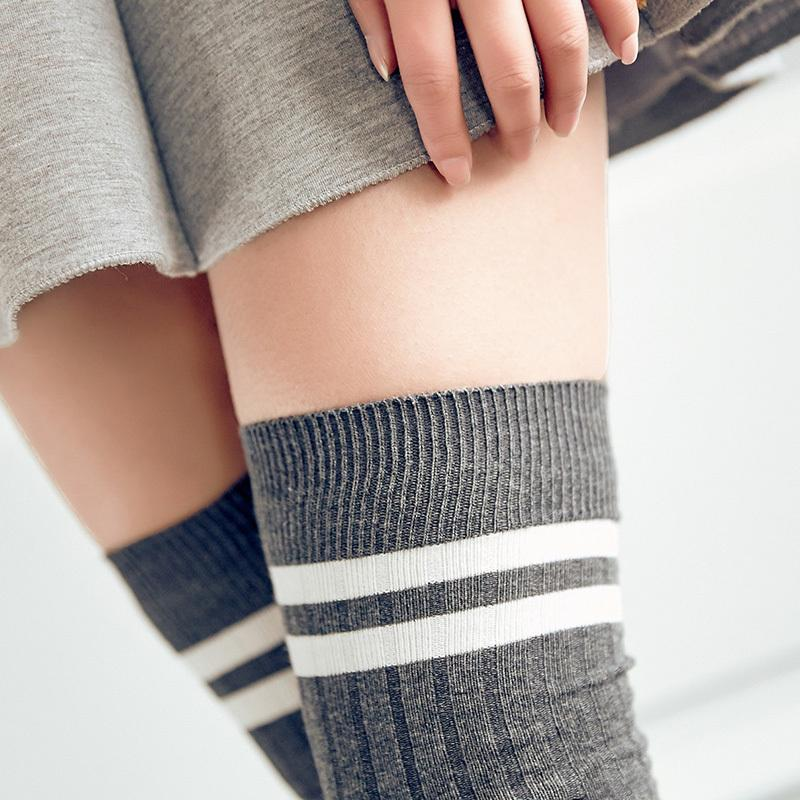 c3f6b11107518 Sexy Fashion Women Girl Thigh High Stockings Knee High Socks,Cute Long  Cotton Warm Over The Knee Socks 2018 Hot Sale Y18102205 Sexy Thigh Socks  Sexy Women ...