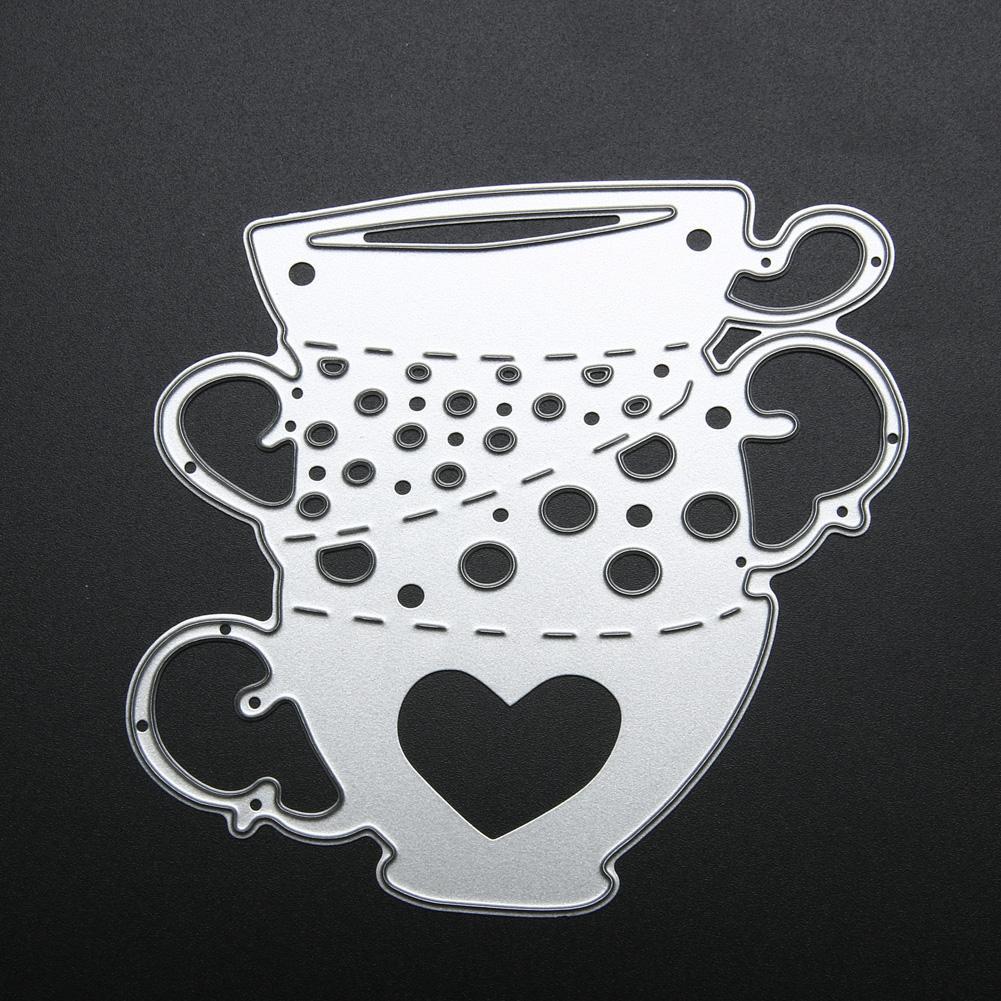 Metal Cutting Dies Tea Cups Scrapbooking Paper Craft DIY Photo Album Decorative Dies Embossing Folder Metal Stencil Dies Cut